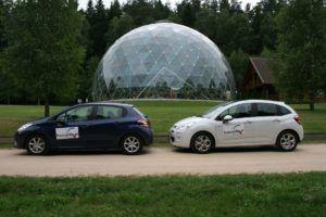 001 zwiedzamy Litwę Citroenem C3 i Peugeotem 208