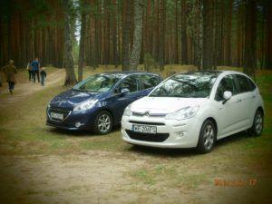 016 zwiedzamy Litwę Citroenem C3 i Peugeotem 208.jpg