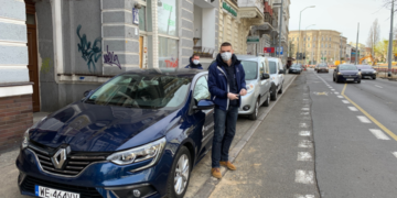 Renault Kangoo dla PCK w Szczecinie, Megane transportuje sprzęt